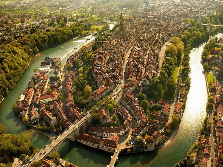 aerial photography - Bern, Switzerland