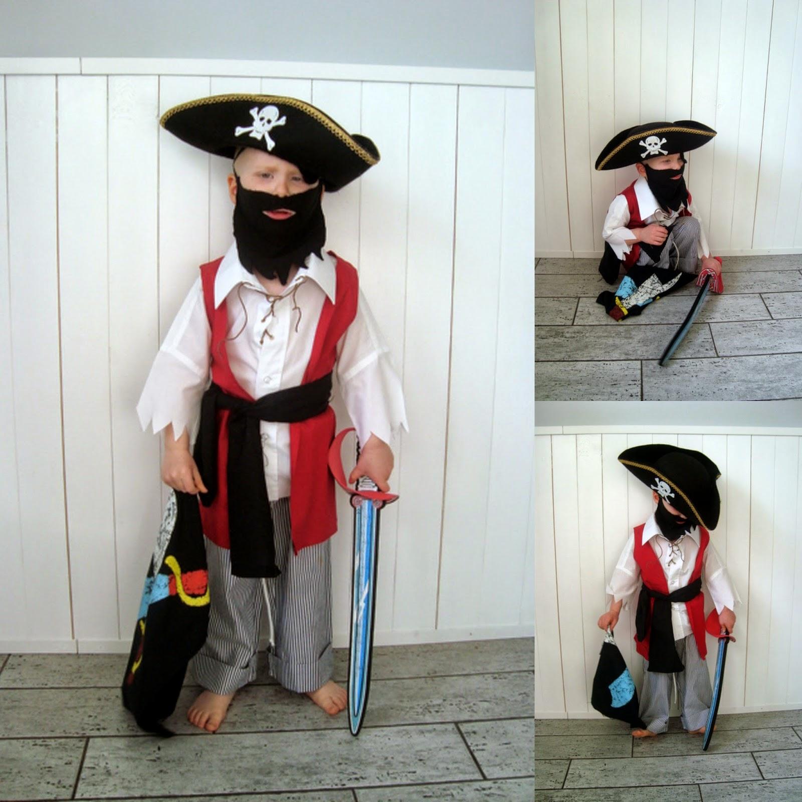 strój pirata DIY