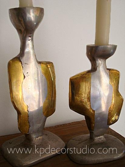 Comprar candeleros-candelabros-portavelas de cobre. Decoración con estilo. Artículos vintage selectos
