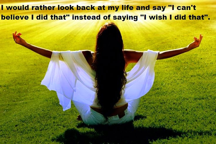 I Would Rather Look Back At My Life