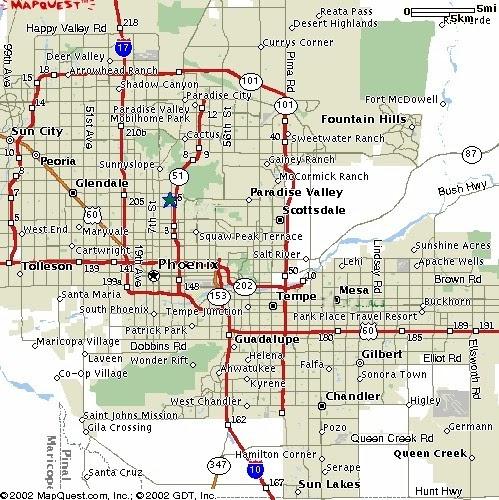 Phoenix Usa Map: Maps Of Dallas: Phoenix Map