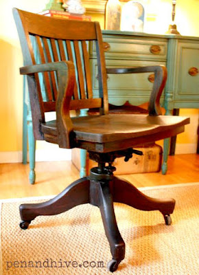 refinishing a vintage bankers chair