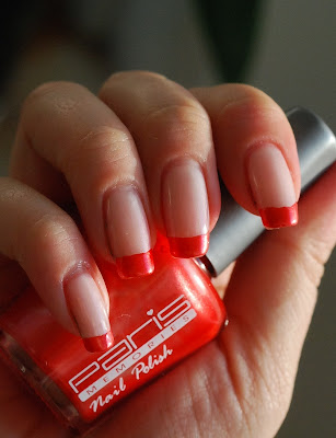 naglar, nails nagellack, nail plish, paris memories, orange, funky french