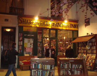Shakespeare and Company bookstore, Paris, exterior