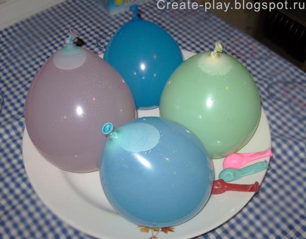Как сделать ледяной шар из воздушного