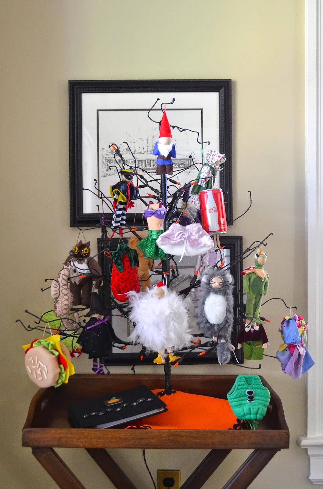 the halloween tree and 2013 ornaments - Halloween Tree Ornaments