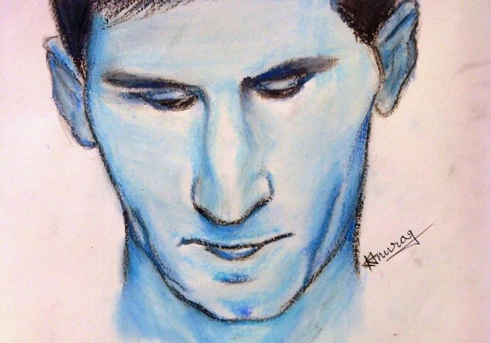 Lionel Messi Sketch By Kumar Abhishek Anurag