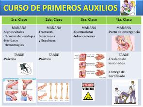 CURSO DE PRIMEROS AUXILIOS - 2016