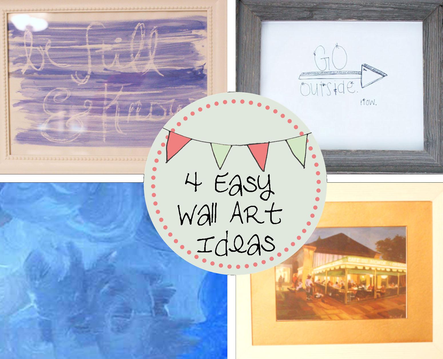 Craftivity Designs: Spring Spruce Up: 4 Easy Wall Art Ideas
