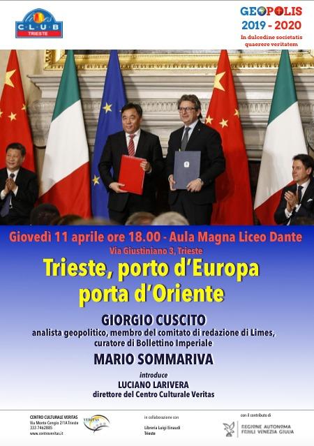 GIOVEDI' 11 APRILE - ORE 18 - AULA MAGNA LICEO DANTE - TRIESTE