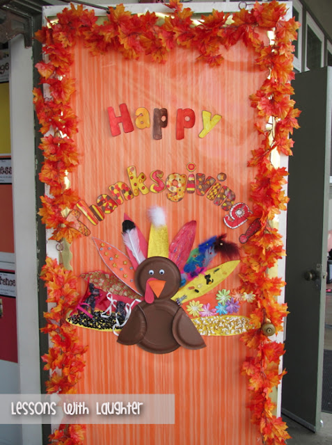 Lessons with Laughter Thanksgiving Door Decor