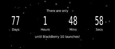 El desarrollador @jcarty ha creado una aplicación la cual trata de la cuenta regresiva del lanzamiento de BlackBerry 10, la cual fue anunciada que será el 30 de Enero del 2013. La aplicación te muestra los dias, horas, minutos y segudos restantes para que suceda el lanzamiento oficial por parte de RIM. La aplicación esta conectada a BBM para que uno pueda compartir con sus contactos el tiempo faltantes para la presentación oficial. Sistema operativo requerido:5.0.0 o superior DESCARGA OTA Enlace(s):http://bit.ly/BB10CountdownFuente: BlackBerry Blog