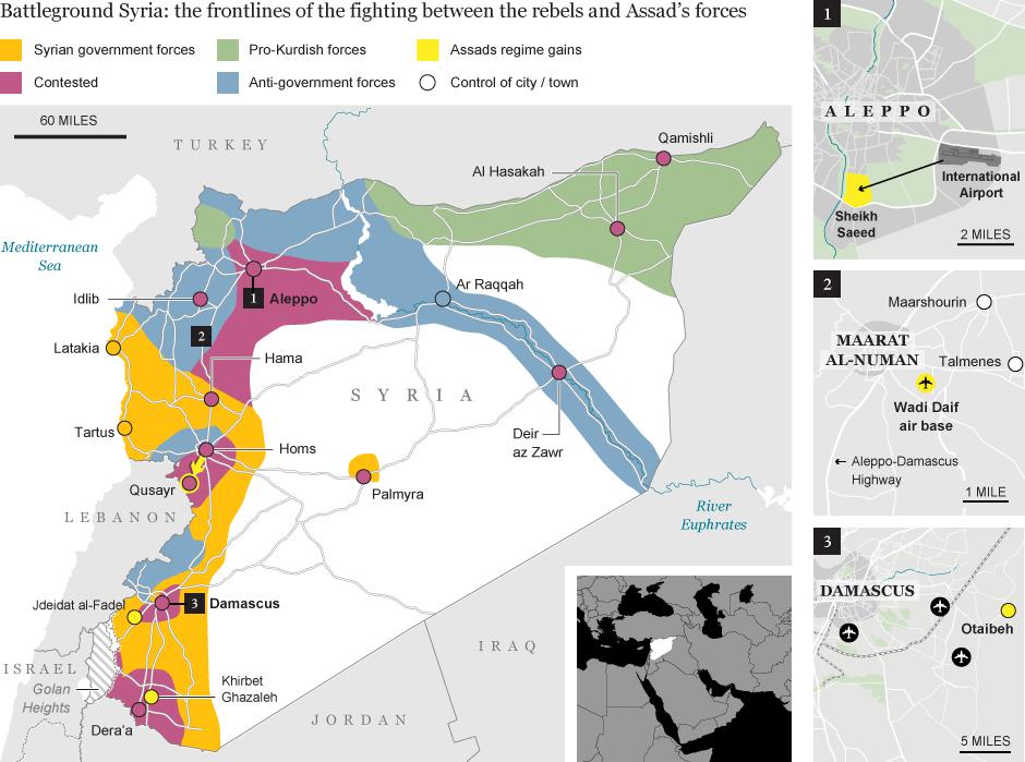 кто контролирует территорию сирии карта внешний слой хорошо