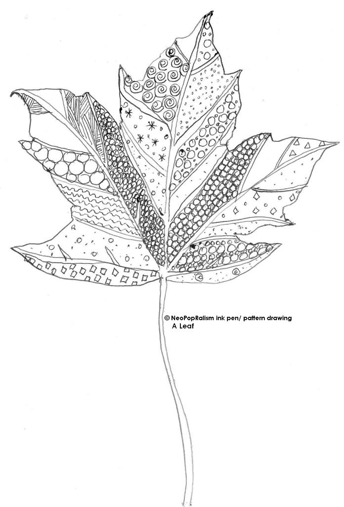 how to draw a leaf on a flower
