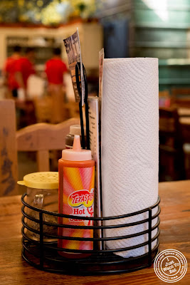 image of paper towel roll at  Hill Country in NYC, New York