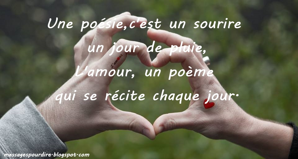 Poeme damour ta rencontre