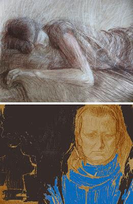 rysunek portret Urbaniak ekspresyjny ekspresyjne portrety rysunki