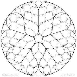 Don 39 t eat the paste sens cathedral rose window to color for Cathedral coloring pages