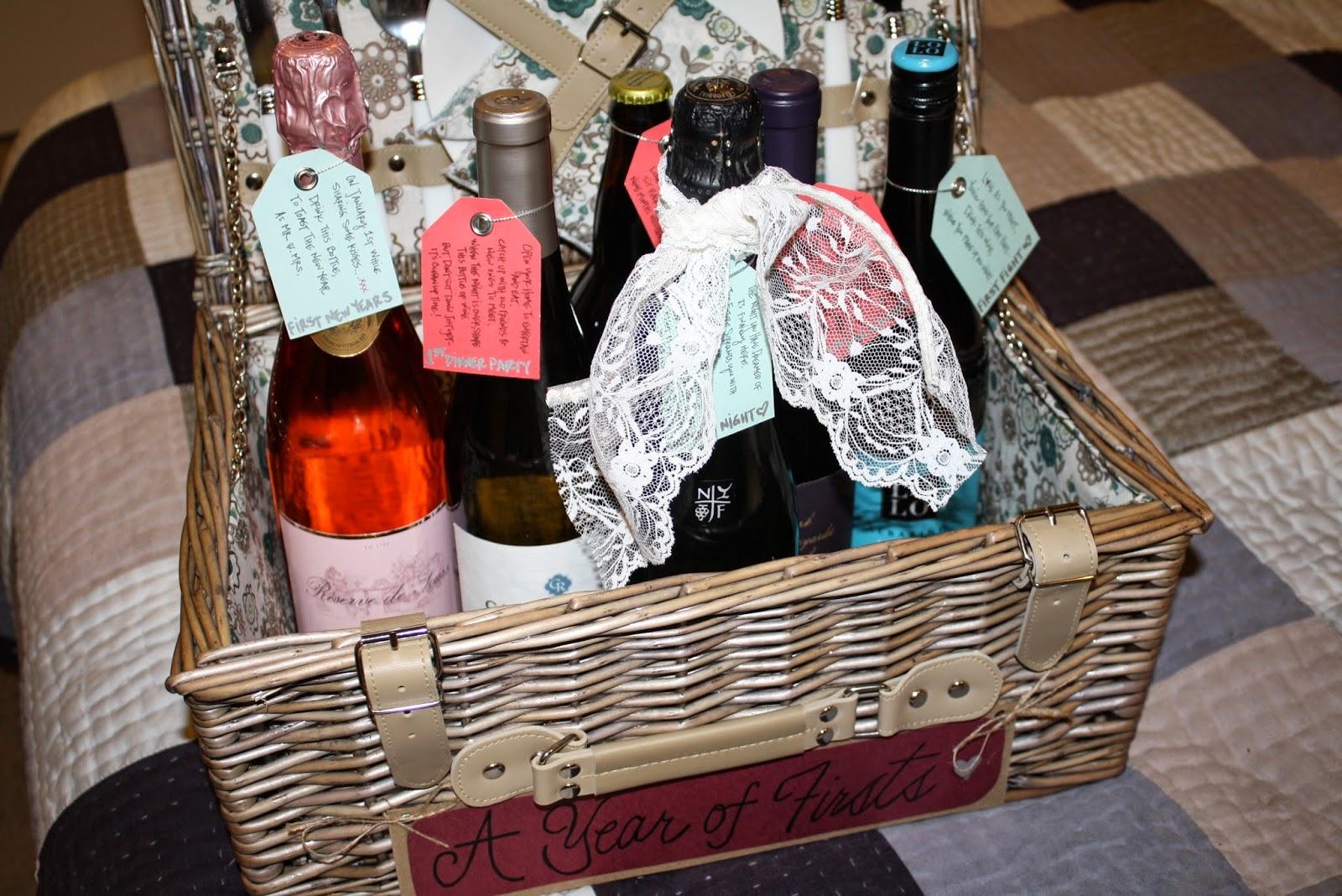 bridal shower wine gift idea