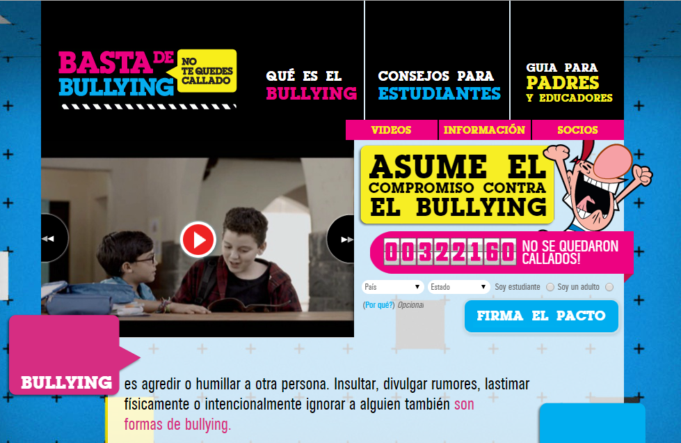 http://www.bastadebullying.com/