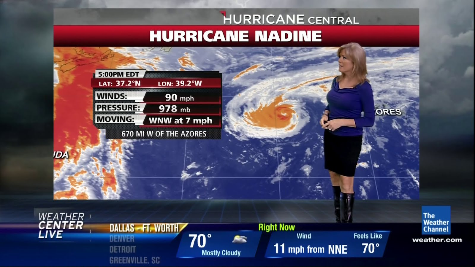 the appreciation of booted news women blog   the weather