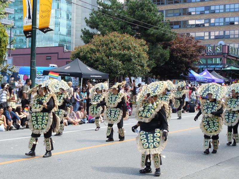 Vancouver Pride Parade tribe dancers