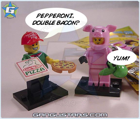 LEGO MiniFigures Pig Pizza Delivery Guy Series 12