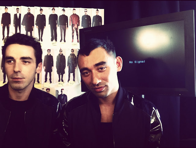 Romain Kremer Nicola Formichetti MUGLER FALL WINTER 2012 2013 BACKSTAGE PARIS MENS FASHION WEEK