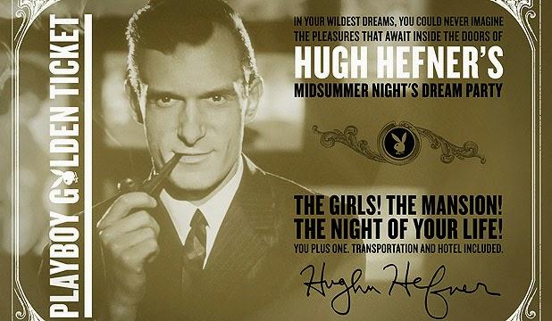 Playboy, Playboy Mansion Party, Golden Ticket, Hugh Hefner