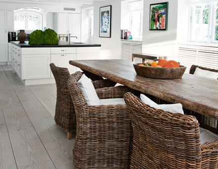 Simply Beautiful House: Wicker - Gray Wicker Chair that is...