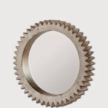 cogwheel mirrors from Mercana