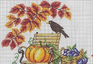 otoño punto de cruz