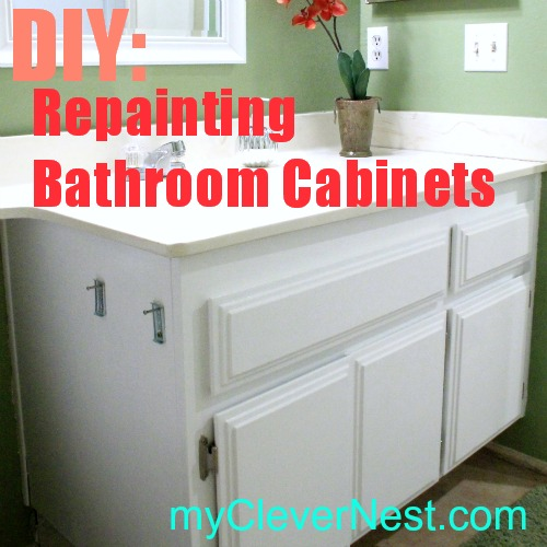 Refinish Bathroom Cabinets Clever Nest Diy Repainting Bathroom Cabinets Quick And Easy