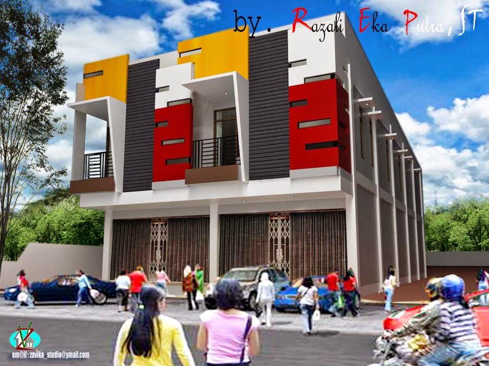 Gambar Rumah Minimalis 1 Lantai 2 Desain Ruko