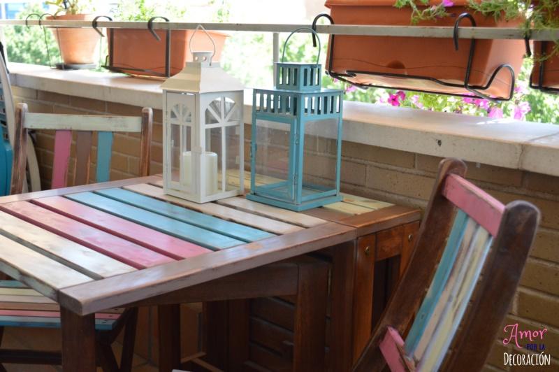 El tuneo de mi terraza con chalk paint en spray amor por for Pintar muebles con spray