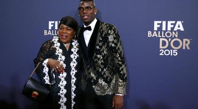 Pogba en la gala Fifa Ballon d'Or awards