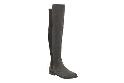 Clarks Bizzy Girl Dark Grey Suede Leather Boots