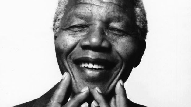 Nelson Mandela smiled on the outside and inside
