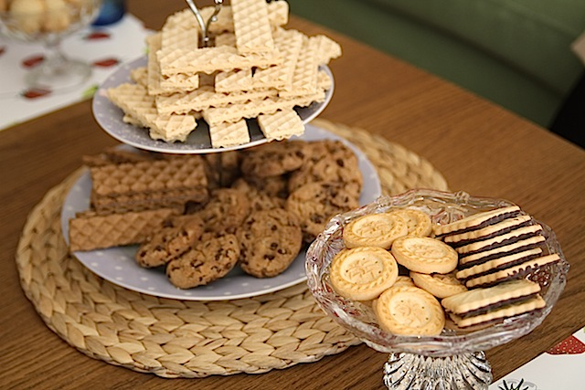 cookies at a tea party