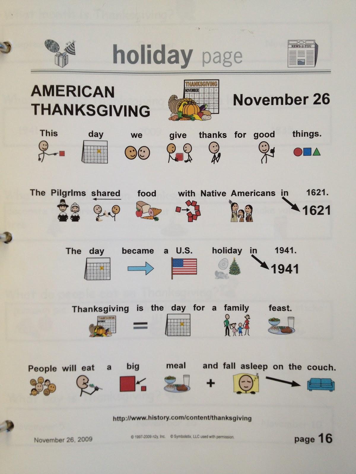 Autism Tank Thanksgiving Worksheets – Thanksgiving Comprehension Worksheets