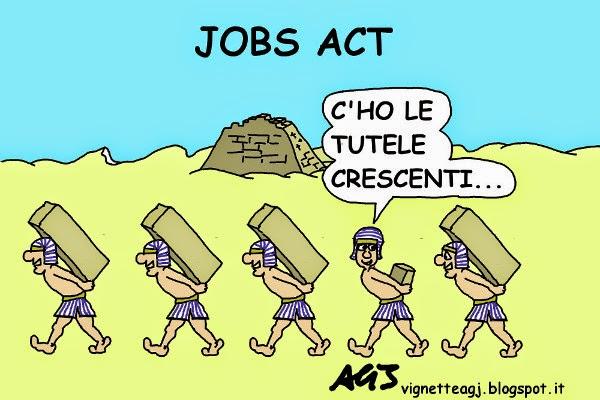 jobs act, contratti, lavoro, vignetta , satira