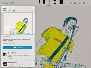 Photoshop Sketch iPad dan Adobe Illustrator Line bisa auto save dan mendukung Wacom Stylus