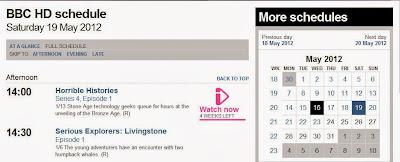bbc.co.uk HD listings screenshot. Content (c) BBC