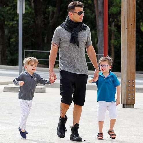 Ricky martin twin sons