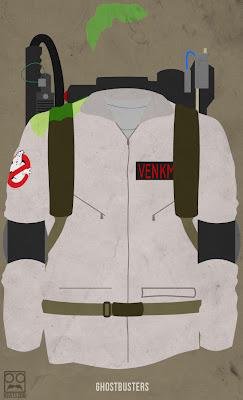 Poster minimalista de Ghostbusters