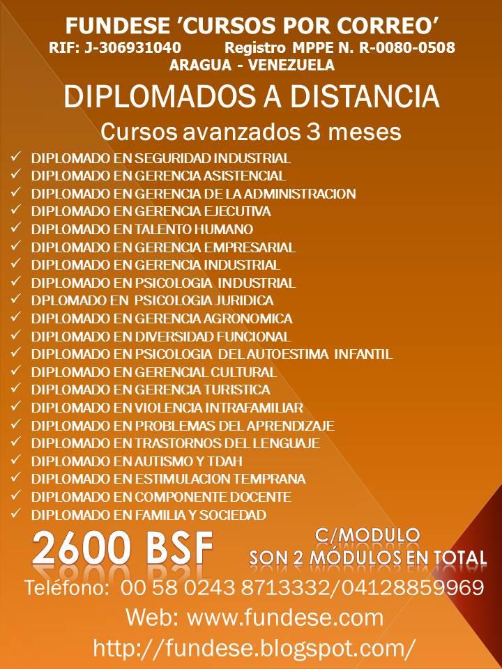 DIPLOMADOS A DISTANCIA