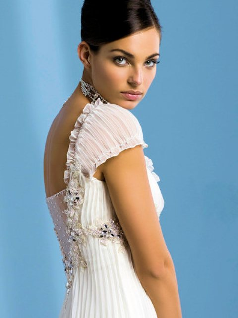 All About Wedding Short Sleeves Wedding Dress