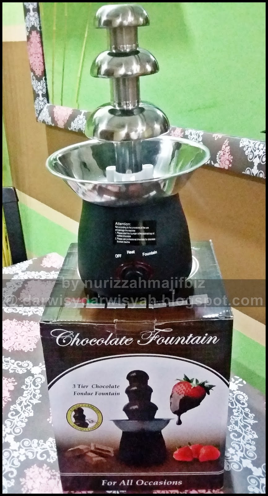 [FOR SALE] CHOCOLATE FOUNTAIN MACHINE XS SIZE FOR 500 GM