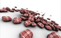 papel de parede pilulas vermelha