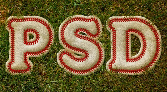 Baseball-Inspired Text Effect in Photoshop